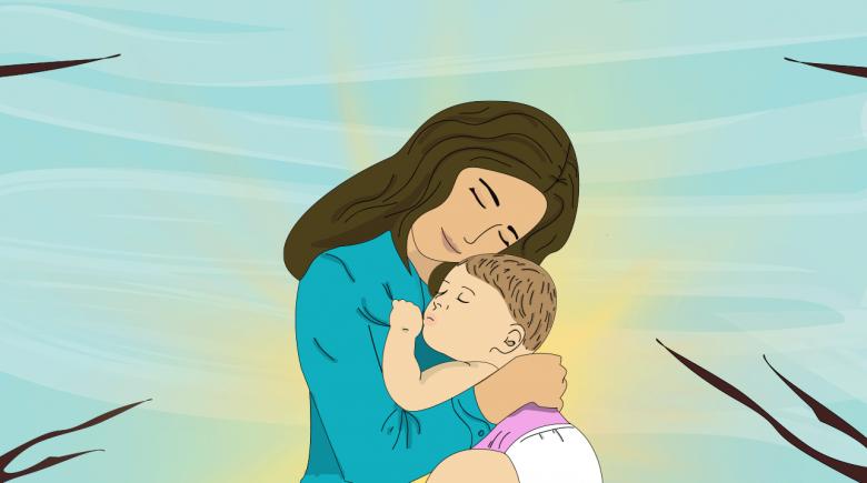 La-seguridad-y-el-amor.que-brinda-una-madre-a-sus-hijos